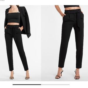 BNWT EXPRESS BLACK HIGH RISE SHORT ANKLE TROUSERS